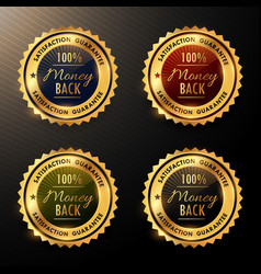 money back guarantee badges set collection vector image