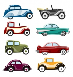 old cars vector image vector image
