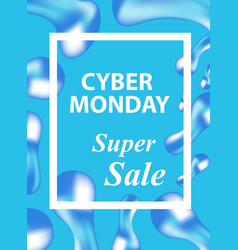 cyber monday flyers templates for your poster vector image