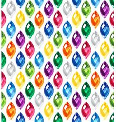 jewel seamless pattern - edge stones hidden under vector image