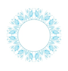 Round floral ornament vector image vector image