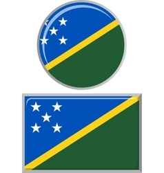 Solomon islands round and square icon flag vector