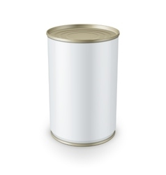 Tin can isolated on white background vector image