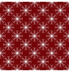 White snowflakes on red background seamless vector image vector image