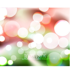 abstract bokeh vision colorful background design vector image vector image