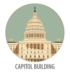 Capitol Building in Washington vector image
