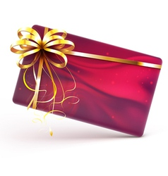 decorated gift card vector image vector image