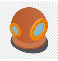 diving suit helmet isometric icon vector image