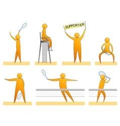 Human tennis silhouettes vector
