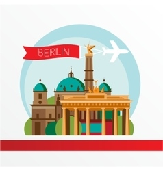silhouette of Berlin Germany City skyline vector image