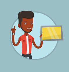 student using tablet computer vector image vector image