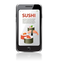 sushi advertising vector image vector image