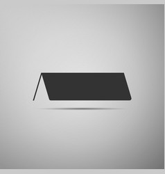 blank paper table card icon tent card icon vector image