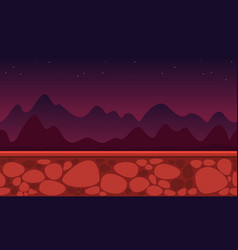 Collection style game background mountain vector