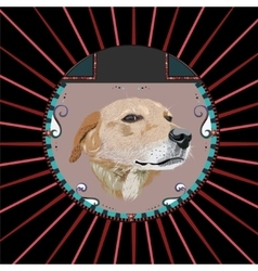 Dog in a circle vector image vector image