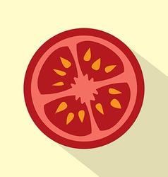 Flat design tomato icon vector