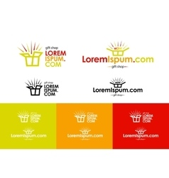 Logo of online gift shop vector image vector image