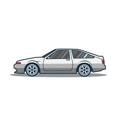 old japan sport car vector image vector image