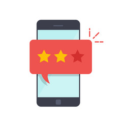 pop-up dialog box on the mobile phone with a vector image vector image