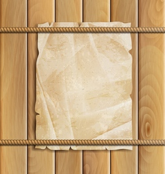 rope paper and wood background vector image