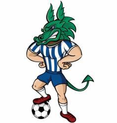 soccer dragon vector image vector image