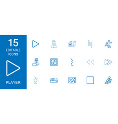 15 player icons vector