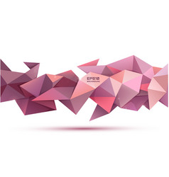 3d abstract geometric facet shape use vector image