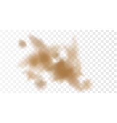 3d realistic dust cloud isolated on a transparent vector image