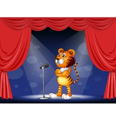 A tiger in the stage vector image