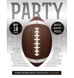 American Football Party Flyer Silver vector