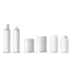 antiperspirant bottles assortment spray dry roll vector image