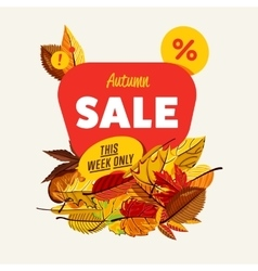 Autumn sale banner this week only vector