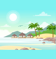 Beautiful seaside with vector