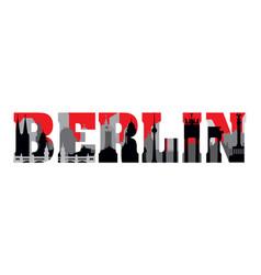 berlin skyline lettering vector image