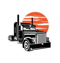 Big truck logo design vector