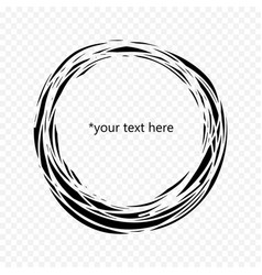 black circle inside of which you can write your vector image