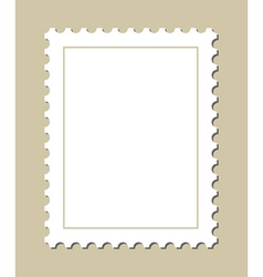 Blank postage stamp vector image