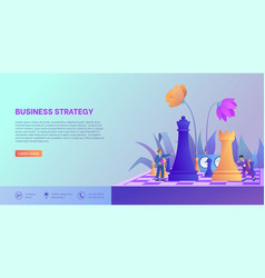Business strategy landing page template vector