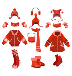 cartoon woman winter clothes vector image