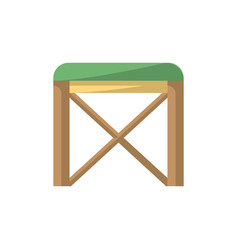 chair isolated icon in flat style vector image