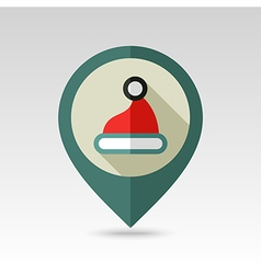 Christmas Hat flat pin map icon vector
