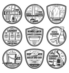 cleaning laundry and washing service vector image