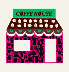coffee shop and coffee house vector image
