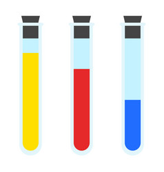 colorful test tubes icon flat style vector image