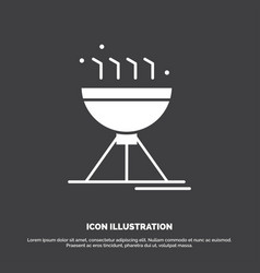 cooking bbq camping food grill icon glyph symbol vector image