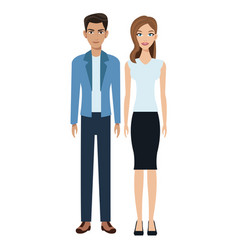 Couple young social community vector