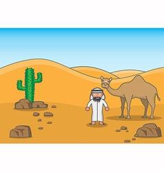 Desert buddy vector image