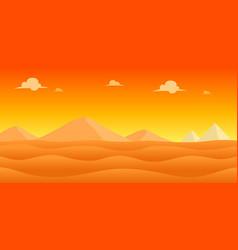 Desert evening game background vector