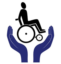 Disabled invalid care sign protection sign vector