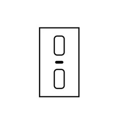 Elevator buttons icon vector